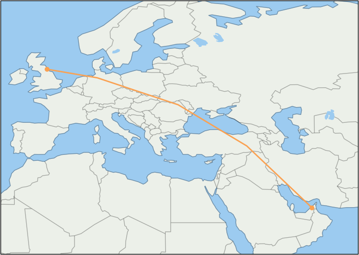 dxb-to-ncl